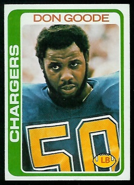 Don Goode 1978 Topps football card