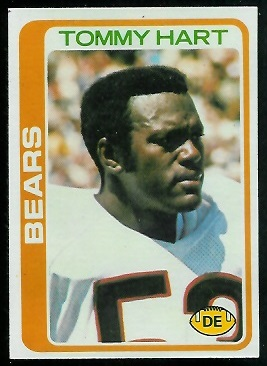 Tommy Hart 1978 Topps football card