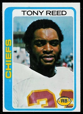 Tony Reed 1978 Topps football card