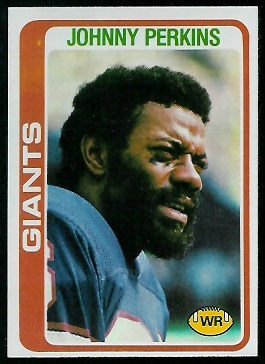 Johnny Perkins 1978 Topps football card