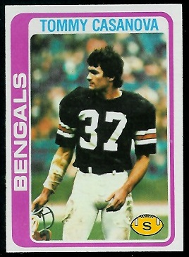 Tommy Casanova 1978 Topps football card