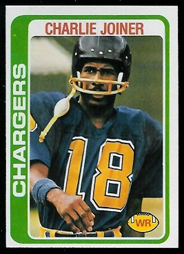 Charlie Joiner 1978 Topps football card