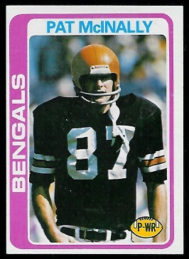 Pat McInally 1978 Topps football card