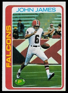 John James 1978 Topps football card