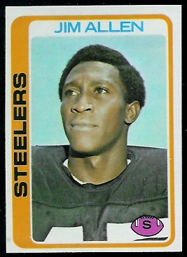 Jimmy Allen 1978 Topps football card