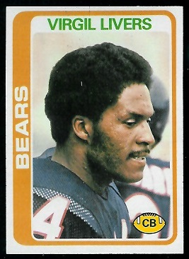 Virgil Livers 1978 Topps football card