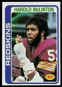 Harold McLinton 1978 Topps football card