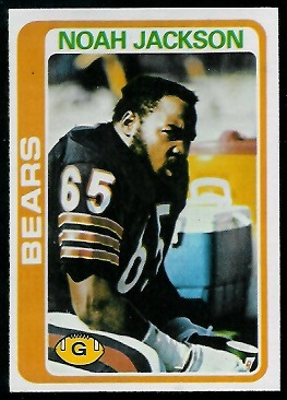 Noah Jackson 1978 Topps football card