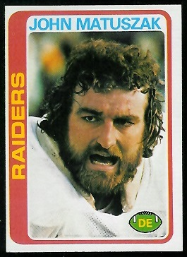 John Matuszak 1978 Topps football card