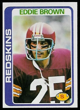Eddie Brown 1978 Topps football card