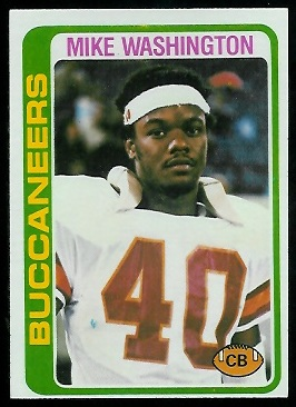Mike Washington 1978 Topps football card