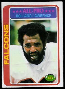 Rolland Lawrence 1978 Topps football card
