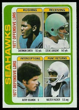 Seahawks Leaders 1978 Topps football card
