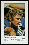 Steve Largent 1979 Seahawks Police football card