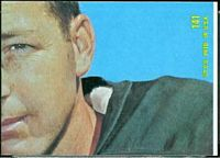 back of 1968 Topps Brad Hubbert football card
