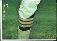 back of 1968 Topps Nemiah Wilson football card