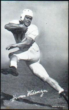 1948 Exhibit Herman Wedemeyer football card