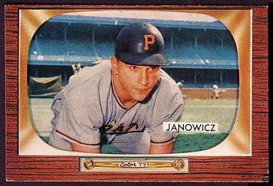1955 Bowman Vic Janowicz baseball card