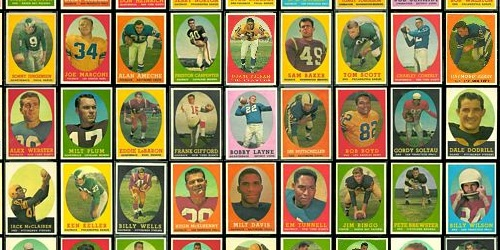Virtual Uncut Sheet of 1958 Topps football cards