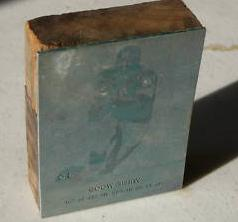 1961 Lake to Lake Packers Willie Wood print block