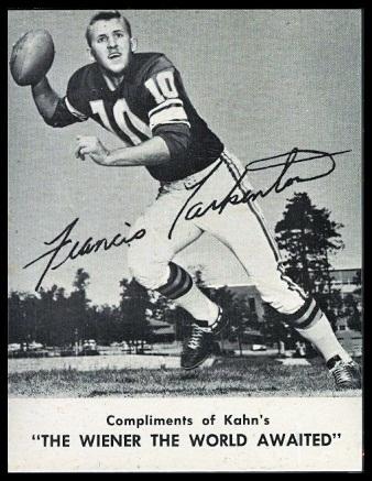 1962 Kahn's Wieners Fran Tarkenton football card