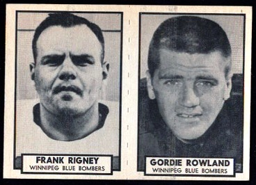 1962 Topps CFL Frank Rigney football card