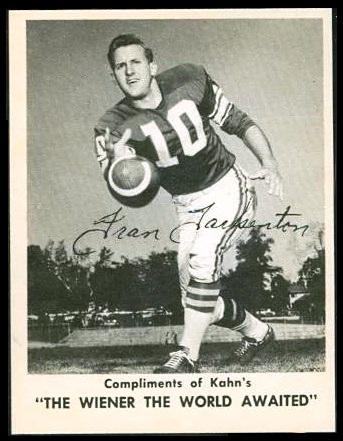 1963 Kahn's Wieners Fran Tarkenton football card