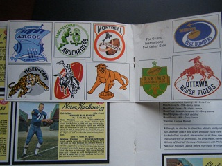 1963 Post CFL football card album