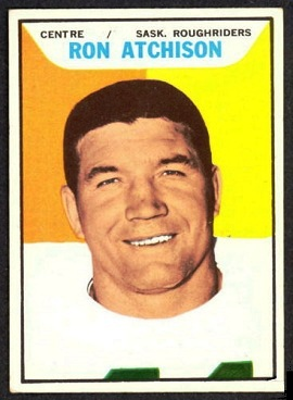 1965 Topps CFL Ron Atchison football card