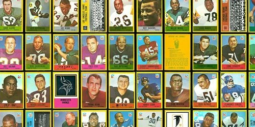 Virtual uncut sheet of 1967 Philadelphia football cards