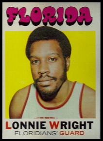 Lonnie Wright 1971 Topps basketball card