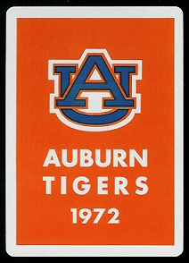 1972 Auburn Tigers playing card back