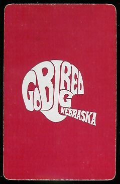 1973 Nebraska Playing Card back