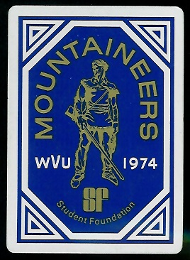 Back of 1974 West Virginia football playing card