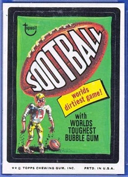 "1975 Wacky Packages ""Sootball"" sticker"