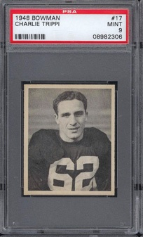 Charlie Trippi 1948 Bowman football card