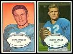 Doak Walker and Bobby Layne 1953 Bowman football cards