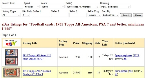 Sports Card Auction Finder