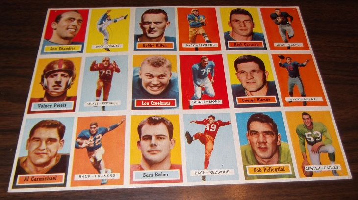 1957 Topps football card salesman's sample