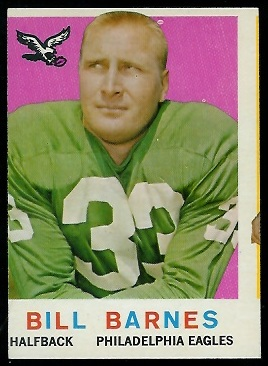 Miscut 1959 Topps Bill Barnes football card