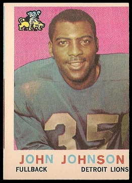 Miscut 1959 Topps John Henry Johnson football card