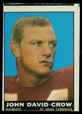 Miscut 1961 Topps John David Crow football card