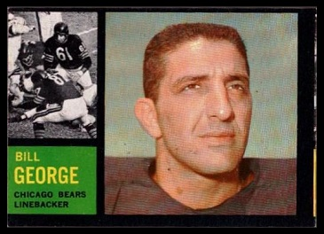 Miscut 1962 Topps Bill George football card