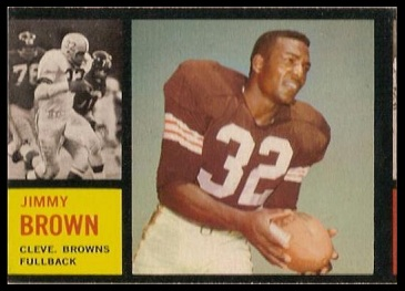 Miscut 1962 Topps Jim Brown football card