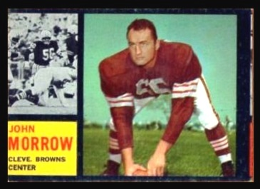 Miscut 1962 Topps John Morrow football card