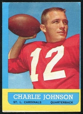 Miscut 1963 Topps Charley Johnson football card