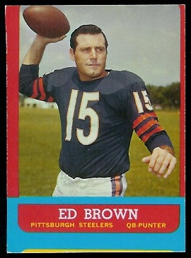 Miscut 1963 Topps Ed Brown football card