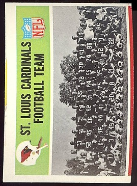 1965 Cardinals Team football card