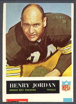 Miscut 1965 Philadelphia Henry Jordan football card
