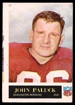 Miscut 1965 Philadelphia John Paluck football card